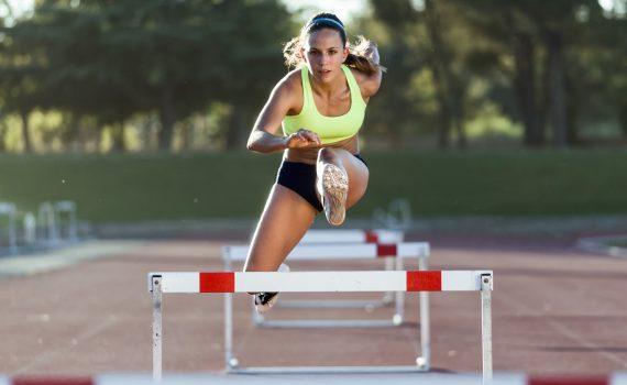Female Runner Athlete Taking CBD